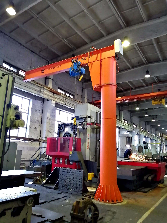Смонтирован и введен в эксплуатацию кран-укосина в периметре расточных станков механосборочного цеха ООО «Сибэлектро».